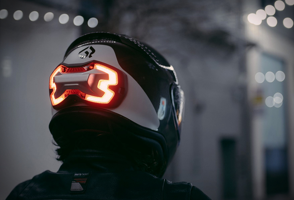 Motorcycle Helmet Brake Light Safety A Smarter Way