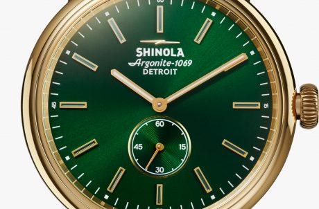 Shinola Bedrock Dress Watch Green Front View