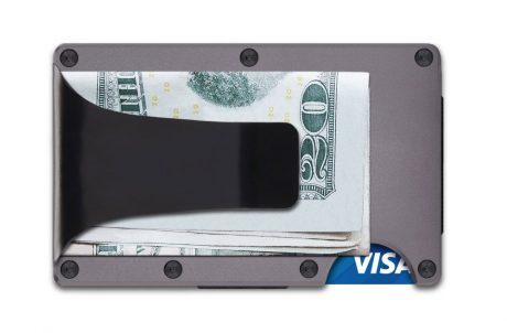 Ridge Wallet Money Clip Gunmetal Aluminum