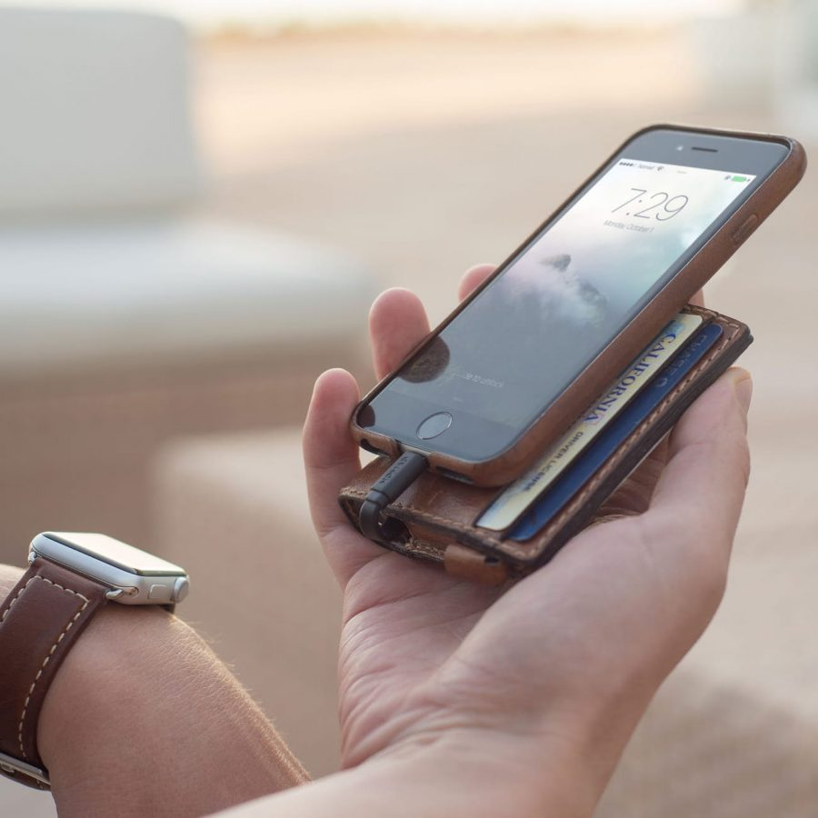 Nomad Slim Charging Wallet Charges Your Phone On the Go