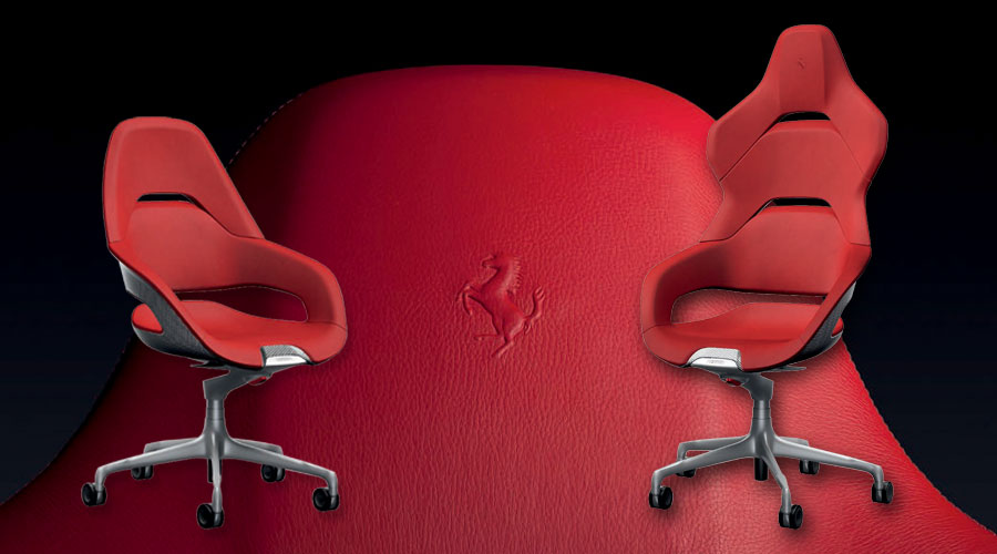 the poltrona frau cockpit office chair was designedferrari