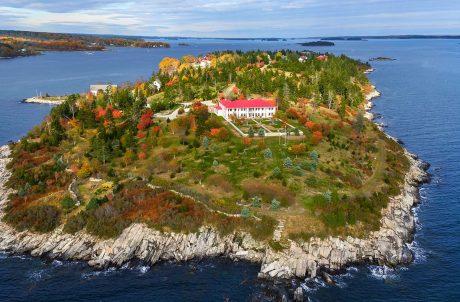 hope island private island aerial shot