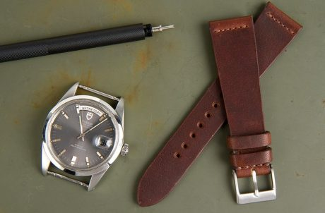 Crown and Buckle Russet Oiled Watch Strap