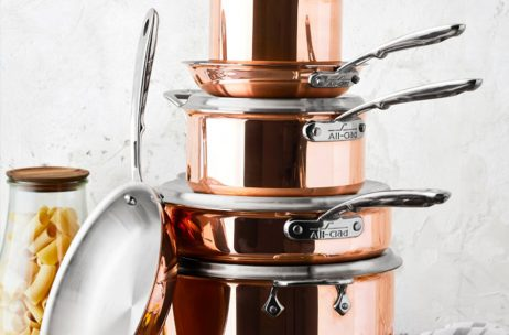 All-Clad Copper C4 Copper-infused Set