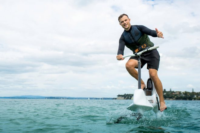 The Manta5 is The World's First Hydrofoil E-Bike. Whatever That Means.