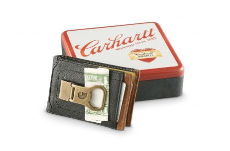 Carhartt Men's Long Neck Wallet With Bottle Opener Money Clip