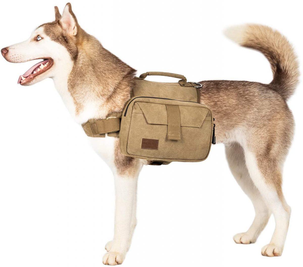 OneTigris Dog BackPack Hound Travel Camping Hiking Backpack Saddle Bag Rucksack for Medium & Large Dog