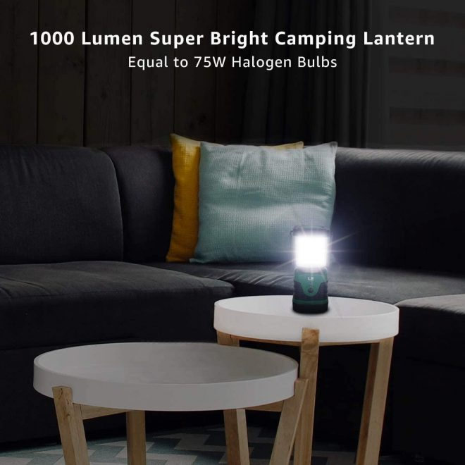 LE LED Camping Lantern: Waterproof, Rechargeable, and Reliable!